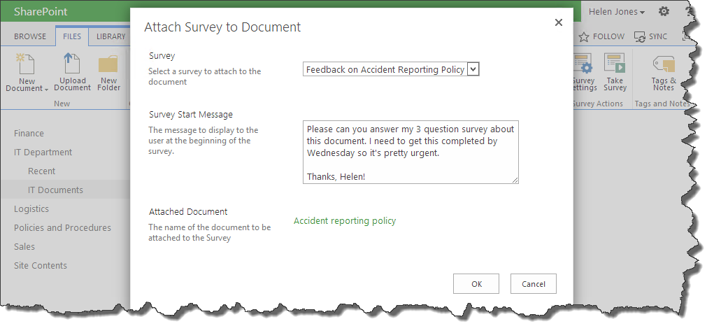 attach-survey-to-sharepoint-document