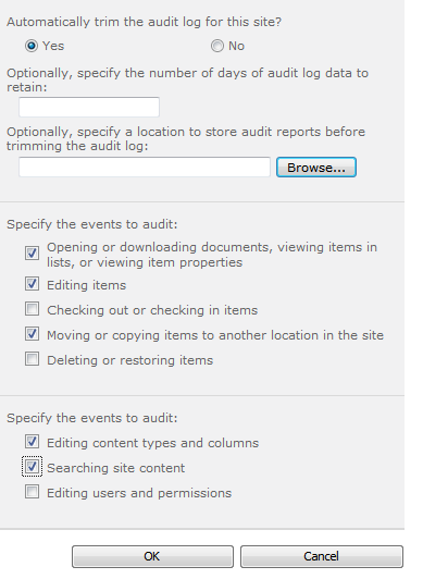 sharepoint-auditting