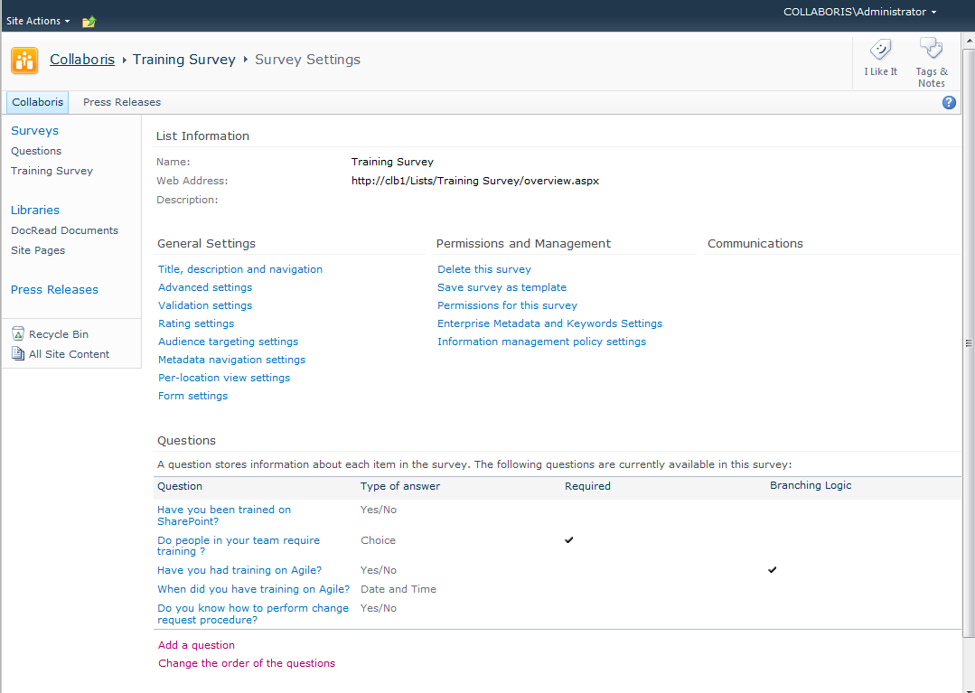How to create a SharePoint Survey in under 5 minutes – Collaboris