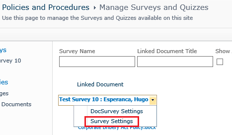 survey-settings
