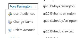 individual user name